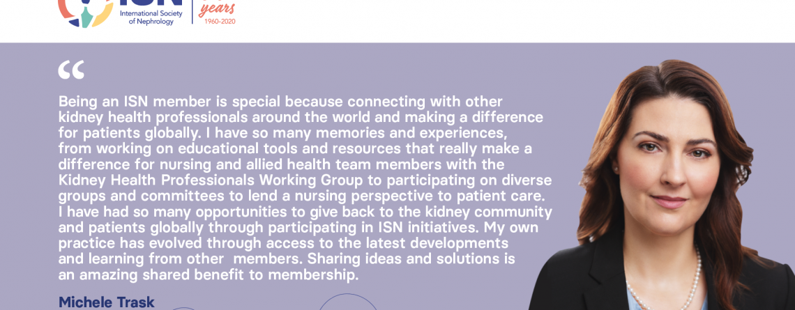 Read Michele Trask's story, Member of the ISN