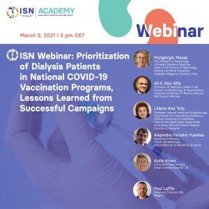 dialysis prioritization COVID-19 vaccination webinar