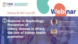 prevention of kidney disease in Africa